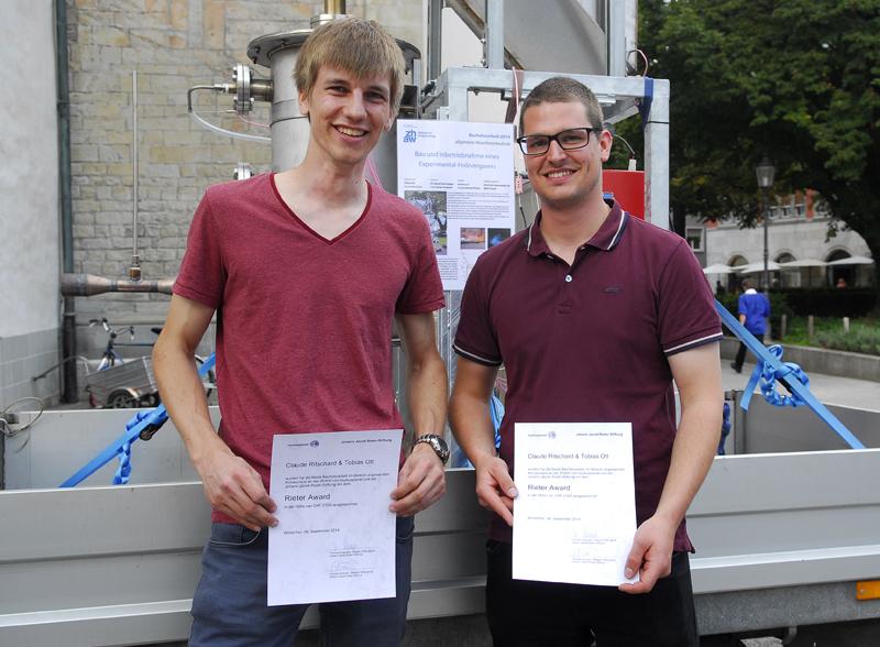 Klimaschutzpreis myblueplanet/ZHAW, Gewinner 2014