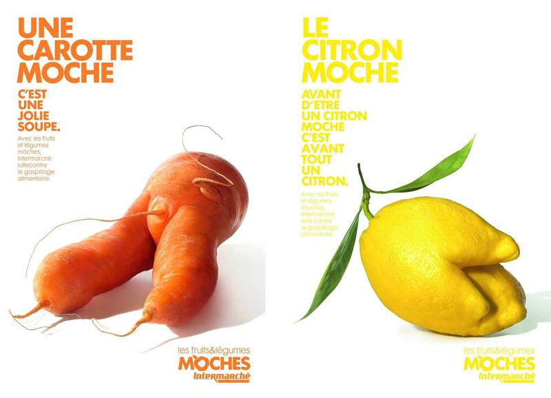 Die hässlichen Früchte & Gemüse - eine Kampagne gegen das Wegwerfen