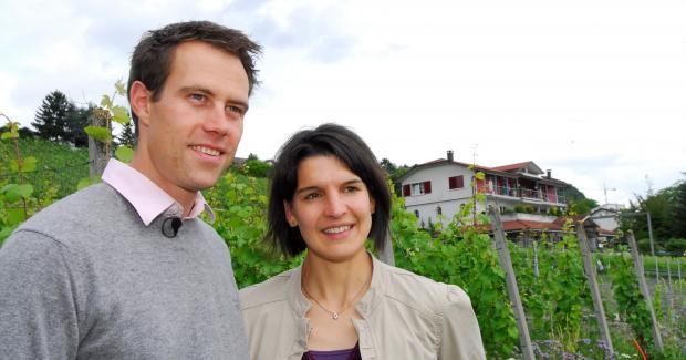 Portrait Nadine und Cédric Besson-Strasser, Winzerkeller, Uhwiesen