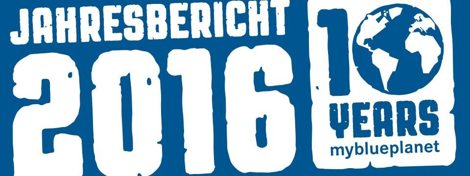 Banner myblueplanet Jahresbericht 2016