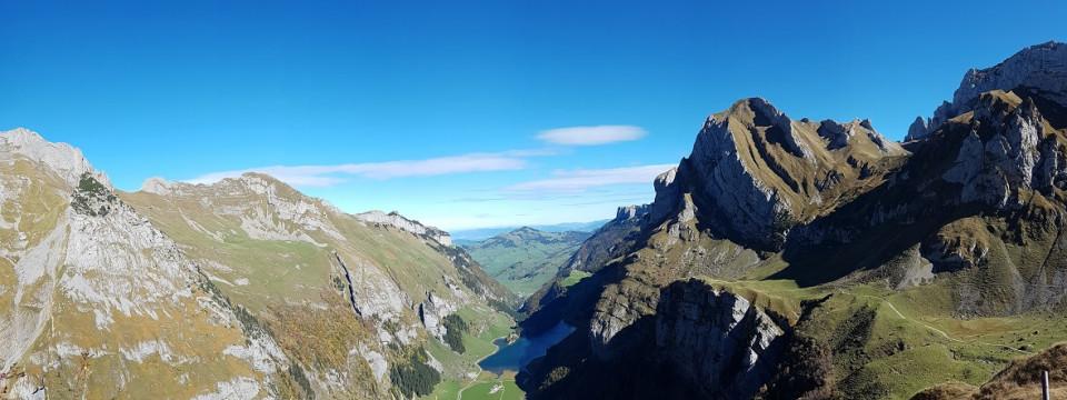 Ausblick über das Alpsteingebiet